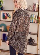 Tunique en mousseline à motif tweed, Multi