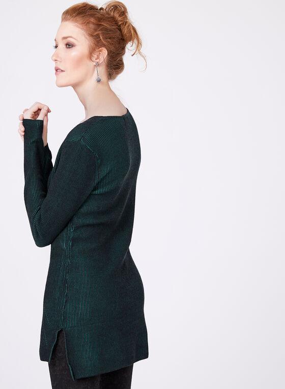 Long Sleeve Knit Tunic, Green, hi-res