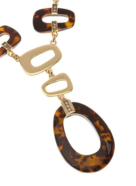 Collier avec pendentifs géométriques, Brun, hi-res