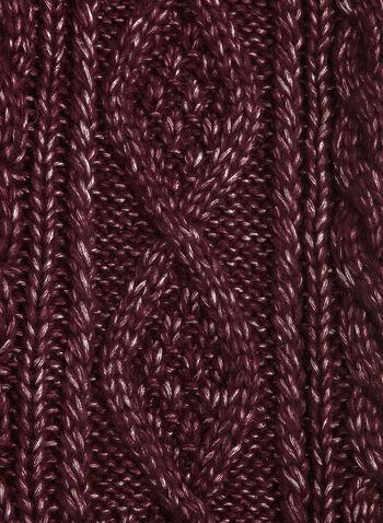 Écharpe en tricot texturé, Rouge, hi-res