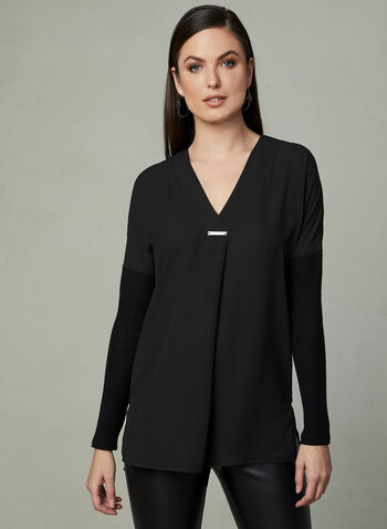 Knit Fooler Tunic, Black, hi-res