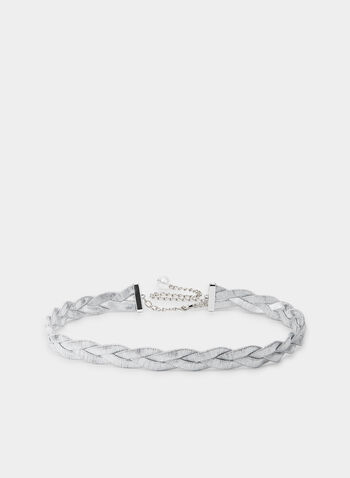 Braided Belt, Silver,  fall winter 2019, belt, braided, metallic