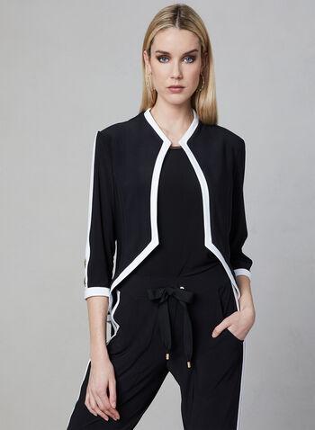 Joseph Ribkoff - Jersey Jacket, Black, hi-res