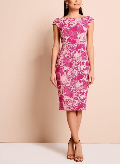 Jax Floral Lace Print Dress, Pink, hi-res