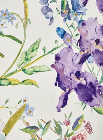 Foulard léger à imprimé aquarelle , Multi,  foulard, carré, floral, fleurs, aquarelle, printemps été 2021