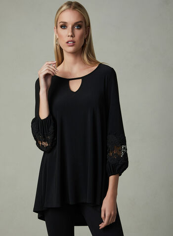 Joseph Ribkoff - Balloon Sleeve Top, Black, hi-res