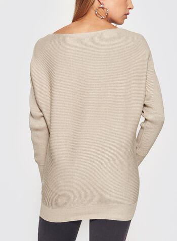 Dolman Sleeve Rib Knit Sweater, , hi-res