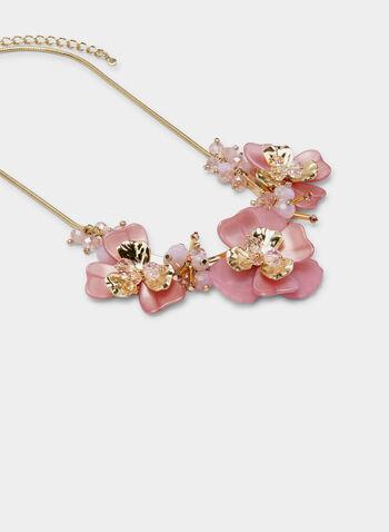Collier doré à fleurs , Rose, hi-res