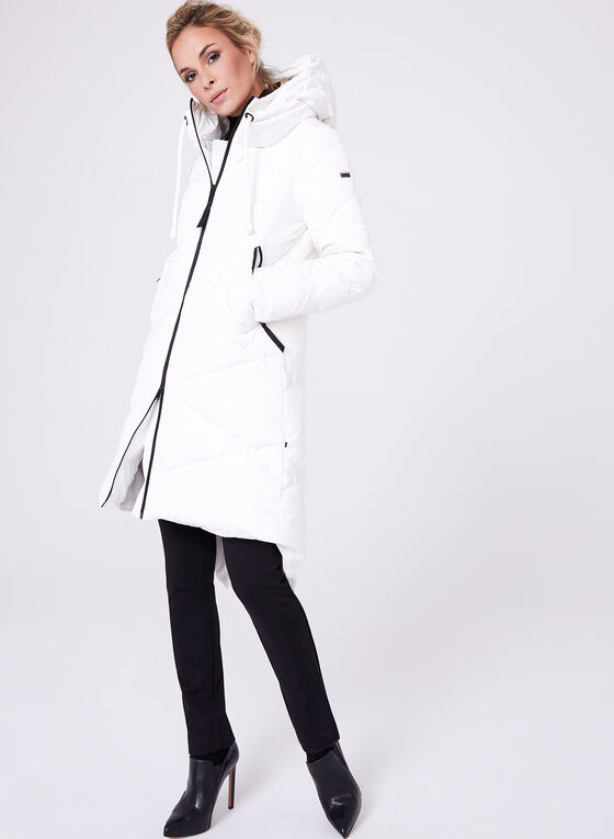 Novelti - Quilted Down Filled Coat, White, hi-res