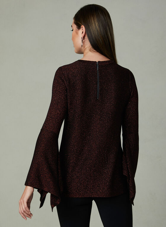 Angel Sleeve Glitter Sweater, Red, hi-res