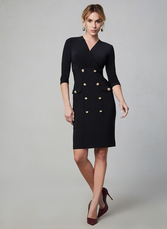 Joseph Ribkoff - Detailed Slim Dress, Black