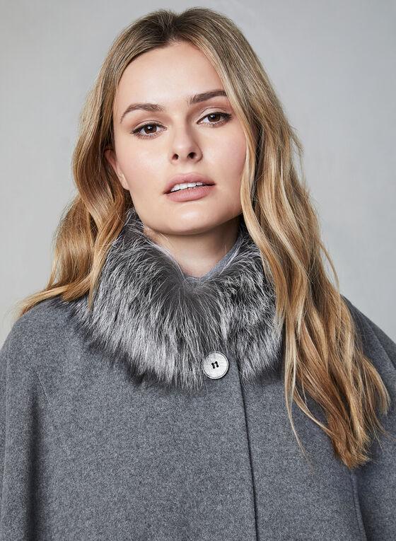 Mallia - Wool & Cashmere Blend Cape, Grey