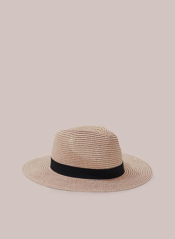 Chapeau Panama en paille, Rose