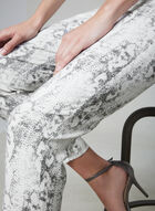 Snake Skin Print Capris, White, hi-res