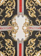 Foulard à imprimé baroque, Noir, hi-res