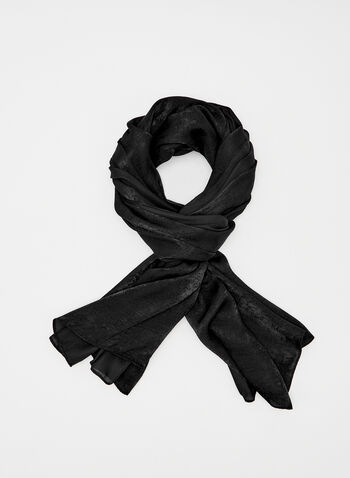 Solid Colour Pashmina Wrap, Black, hi-res