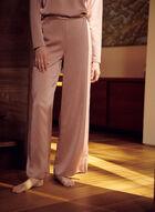 Satin Wide Leg Pants, Pink