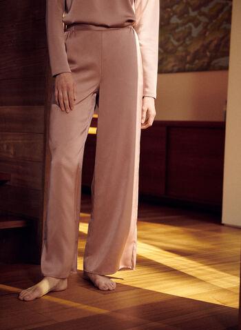 Satin Wide Leg Pants, Pink,  spring summer 2021, pants, pull-on, pull on, satin, silk, wide leg, weekend, weekend wear, lounge, comfort, soft