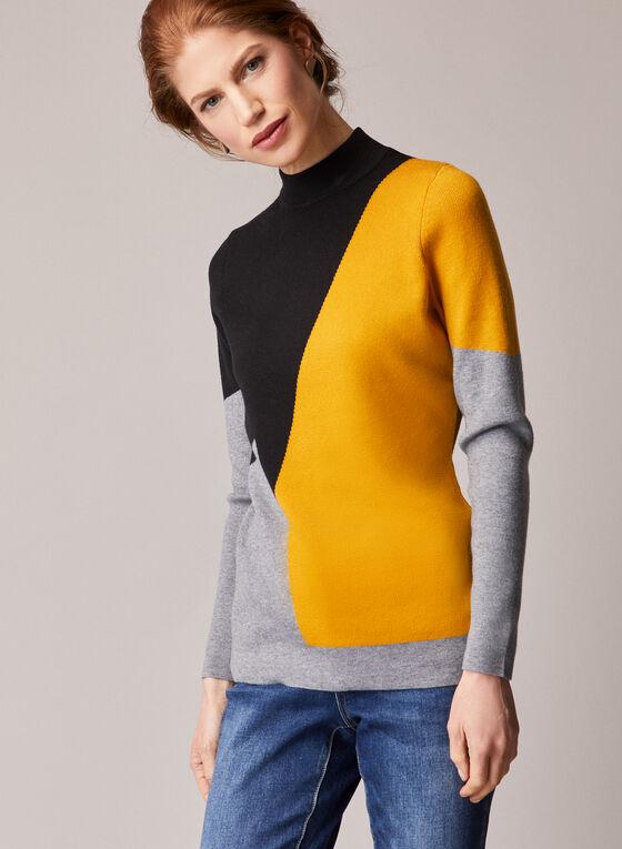 Alison Sheri - Colour Block Sweater, Black