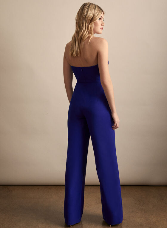Aidan Mattox - Wide Leg Jumpsuit, Blue