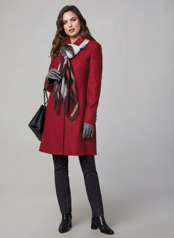 Novelti - Button Down Coat, Red