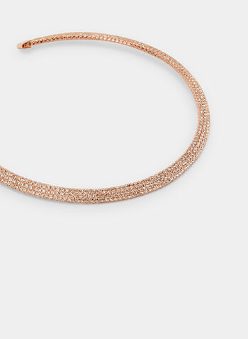 Crystal & Metallic Collar Necklace, Pink,  crystals, metallic, collar, necklace, golden, mesh, spring summer 2020