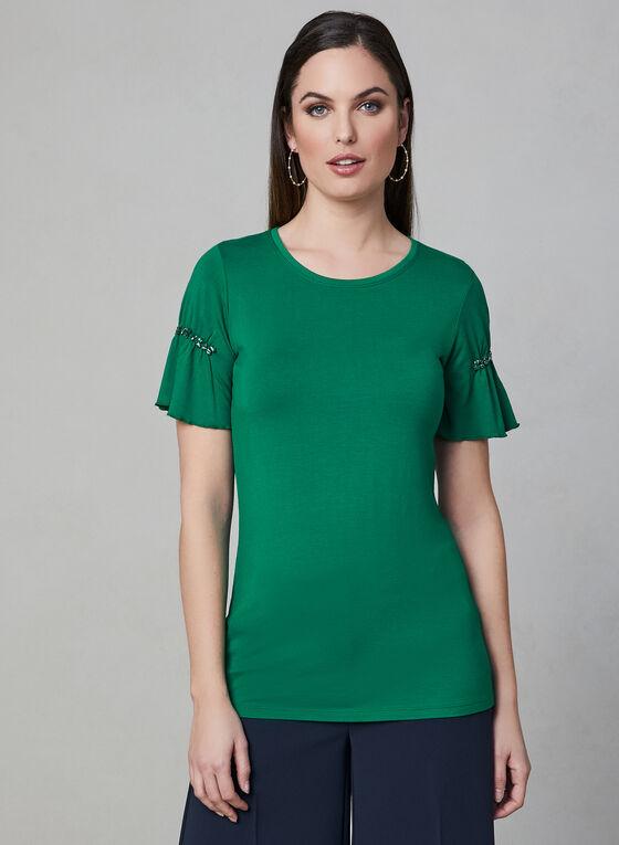 Crystal Embellished T-Shirt, Green, hi-res