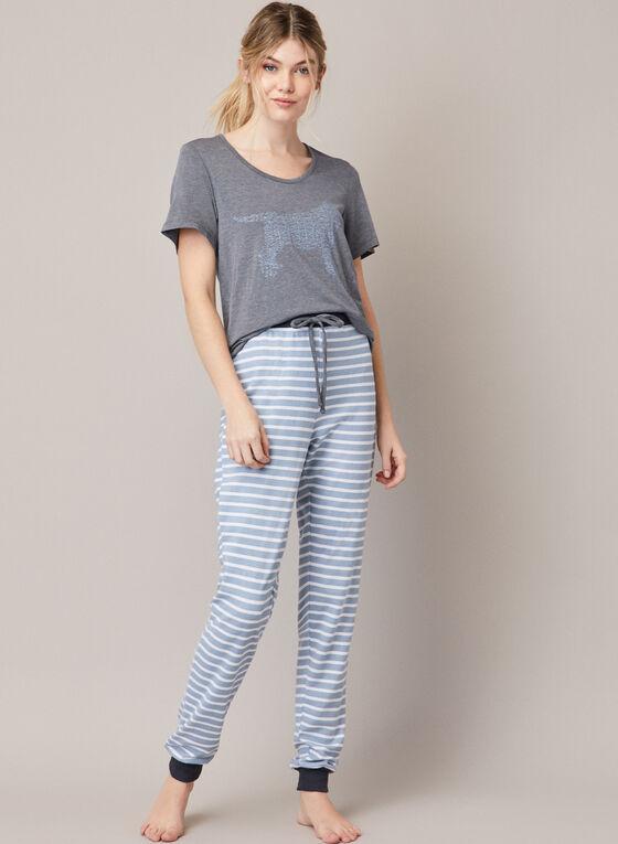 Ensemble pyjama à imprimé, Bleu