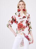 Asymmetric Floral Print Tunic, White, hi-res