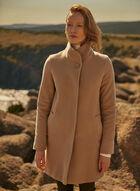 Mallia - Manteau en laine et cachemire, Beige