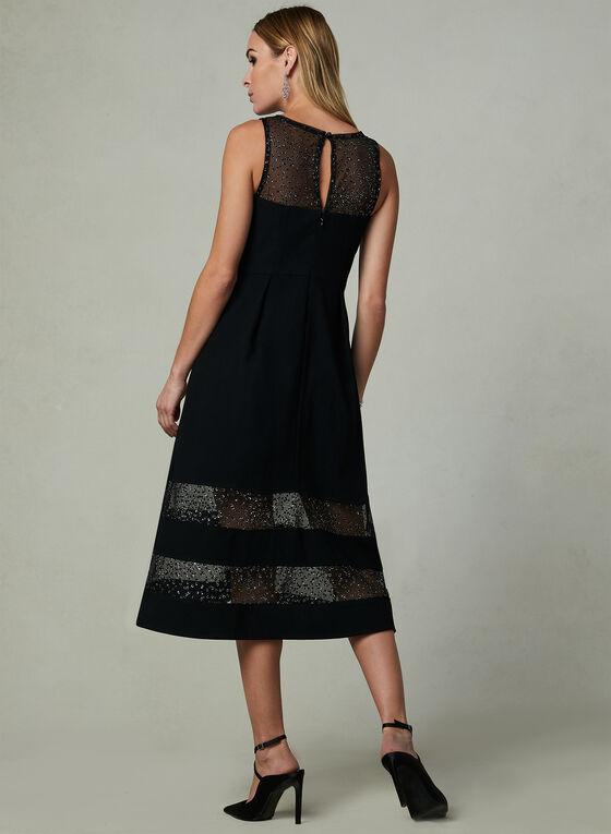 Aidan Mattox - Fix & Flare Dress, Black