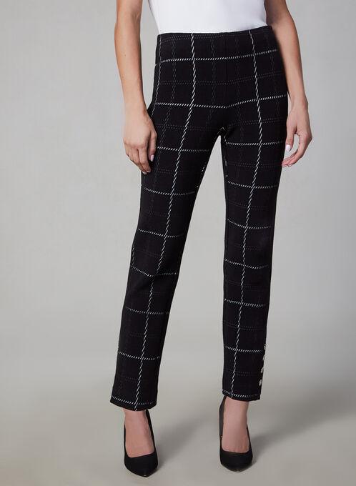 Pantalon Amber à motif quadrillé, Noir, hi-res