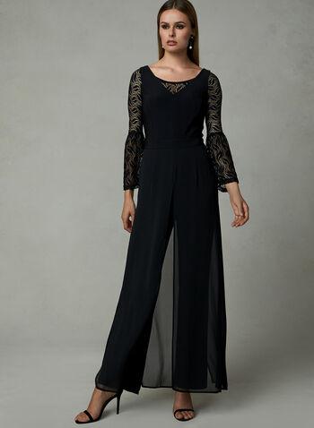 Bell Sleeve Lace Bolero, Black, hi-res