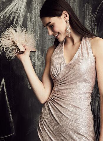 Decode 1.8 - Ruched Metallic Gown, Pink, hi-res