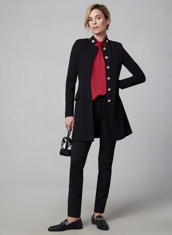 Military Redingote Jacket, Black