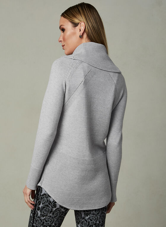 Elena Wang - Cowl Neck Sweater, Grey, hi-res