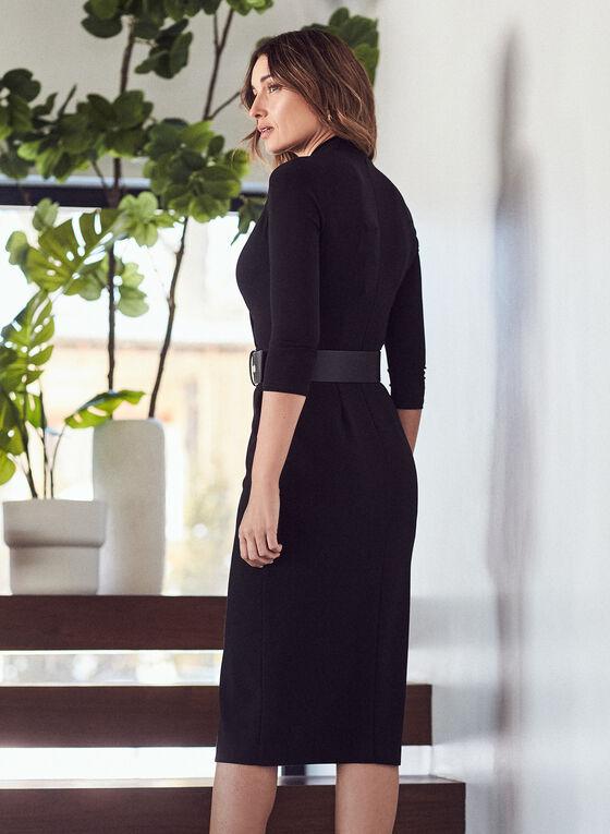 Joseph Ribkoff - Robe ceinturée à jupe boutonnée, Noir