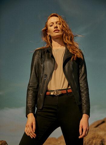 Vex - Zipper Detail Jacket, Black,  Vex, jacket, long sleeves, zipper, grommet, vegan leather, fall winter 2021