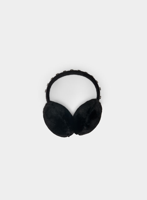 Karl Lagerfeld Paris - Faux Fur Earmuffs, Black