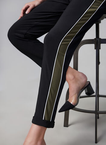 Joseph Ribkoff – Athletic Jersey Pants, Black, hi-res,  casual pants, jersey pants