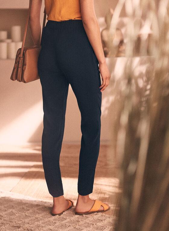 Slim Leg Pull-On Pants, Blue