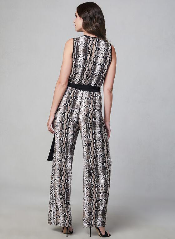 Sandra Darren - Combinaison motif serpent, Brun