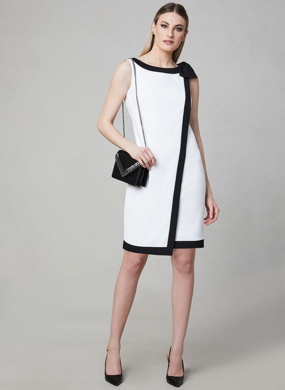 Karl Lagerfeld Paris - Contrast Sheath Dress, Off White, hi-res