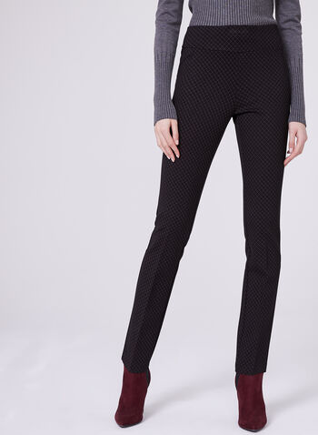 Insight - Pantalon pull-on jambe droite imprimé, Rouge, hi-res