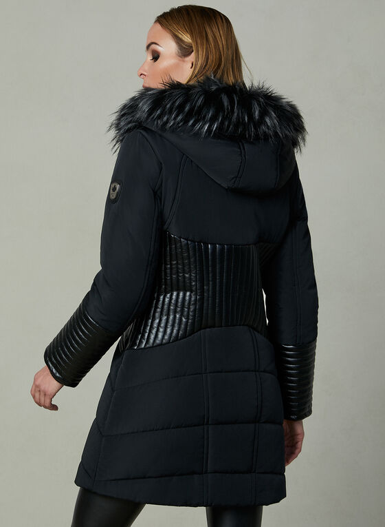 Northside - Faux Down Coat, Black, hi-res
