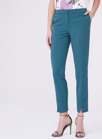 Slim Leg Ankle Pants, Blue, hi-res