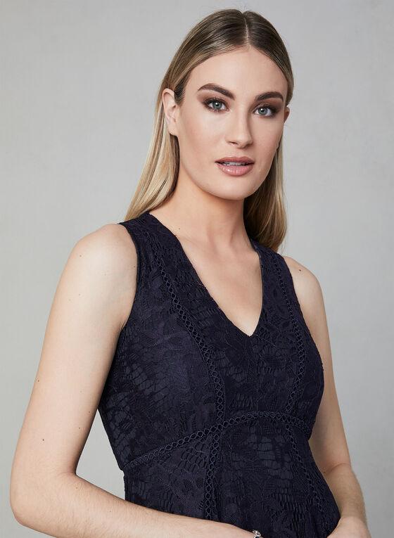 Fit & Flare Lace Dress, Blue