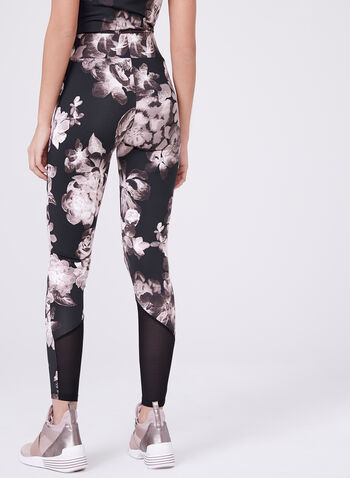 Frank Lyman - Rose Print Leggings, Black, hi-res