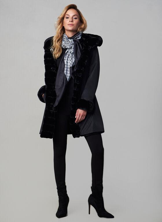 Nuage - Manteau réversible , Noir, hi-res