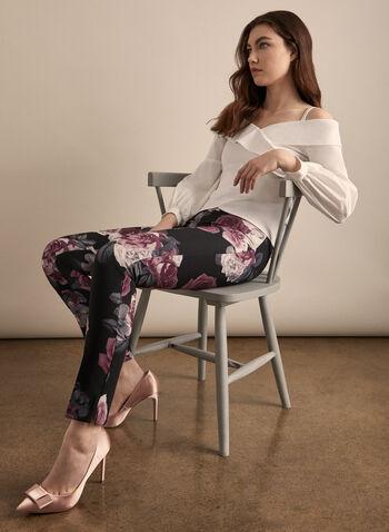 Joseph Ribkoff - Slim Floral Print Pants, Purple,  canada, pants, floral print, slim pants, spring pants, spring 2020, summer 2020